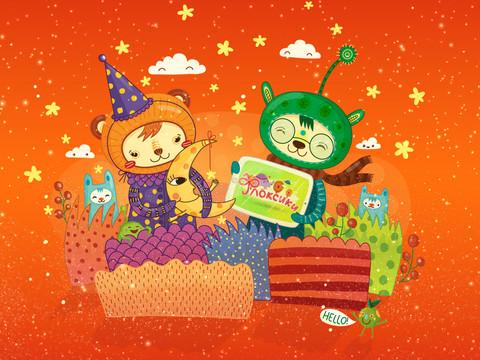 Флоксики — интерактивная детская книга для iPad
