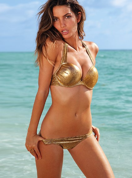 золотой купальник