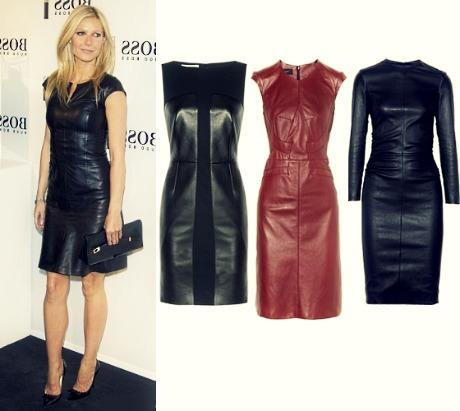 кожаное платье 2013