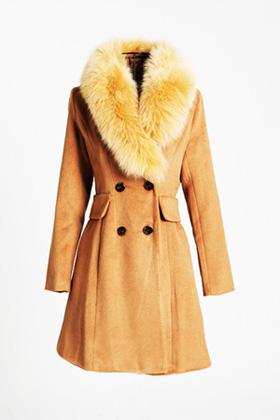 пальто с мехом 2013
