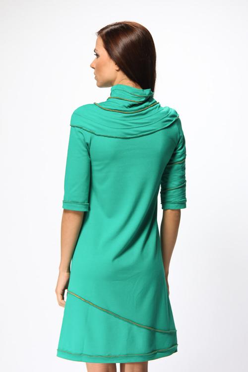аквамариновое платье