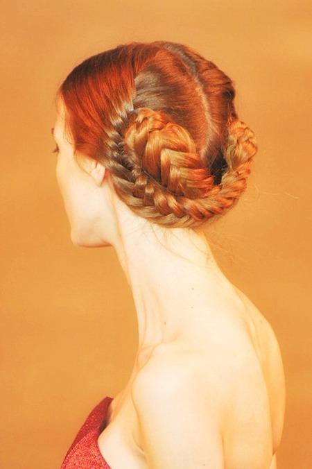 коса в форме узла 2013-2014