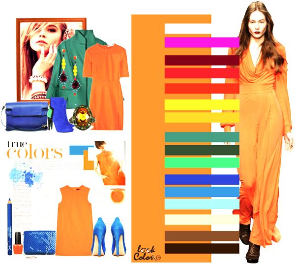 модные цвета ярко-оранжевый