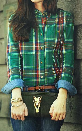 модные клетчатые рубашки