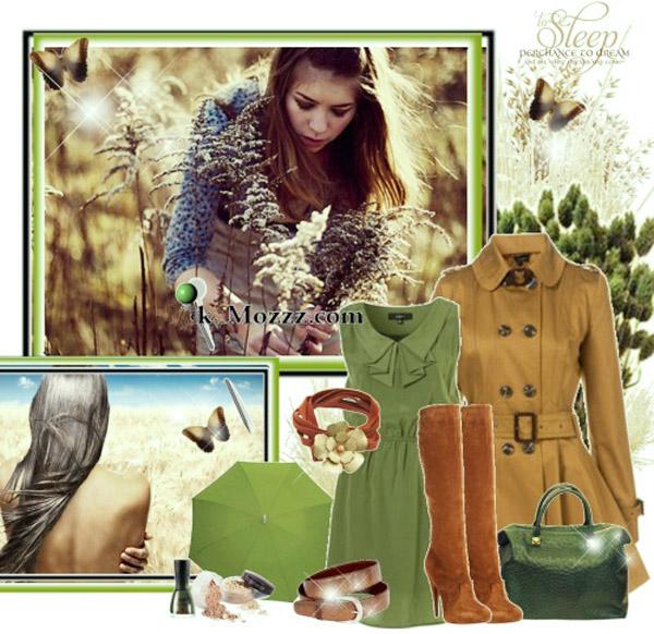 модный мшисто-зеленый цвет