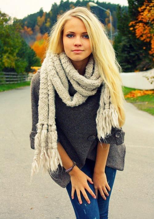 модный объемный шарф 2013-2014