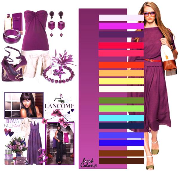 модный темно-фиолетовый цвет
