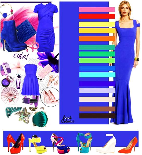 модный ярко-синий цвет