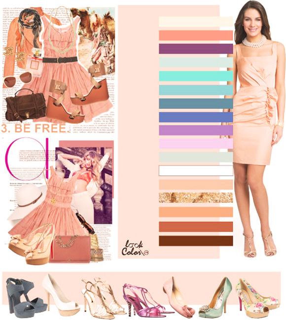 нежно-персиковый цвет