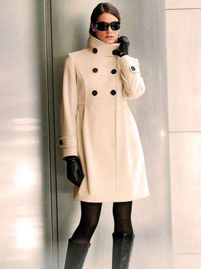 пальто с высокой талией