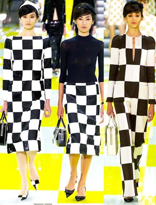 платье черно-белая графика 2013-2014