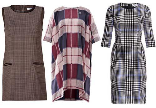 платье в клетку 2013-2014