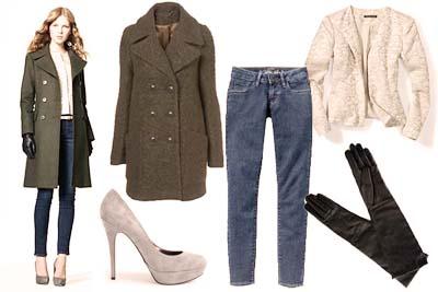 с чем носить строгое пальто
