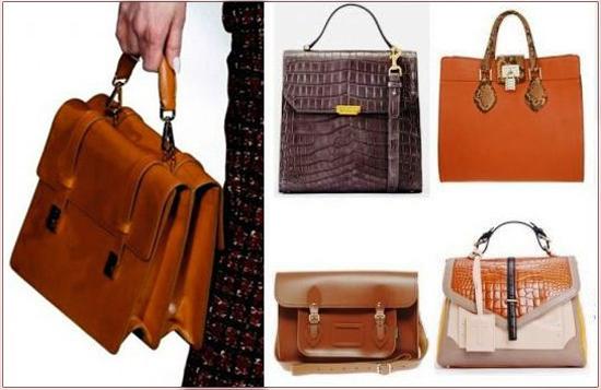 Особого внимания заслуживают, выполненные в ретро-стиле сумки-портфели и саквояжи от модных домов: Armari...