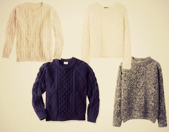 свитер с косами