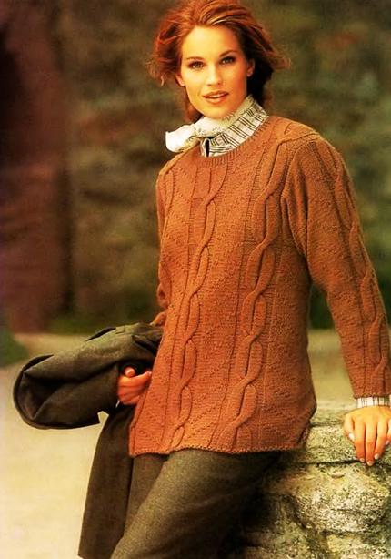 свитер в бабушкином стиле
