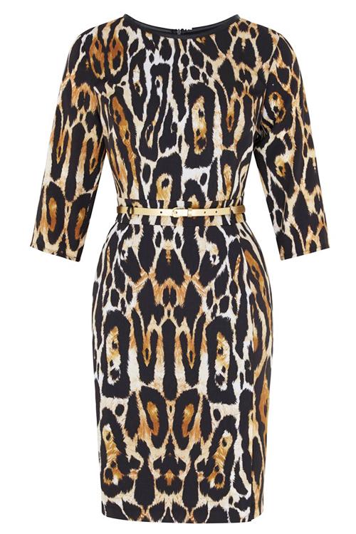 тигровое платье