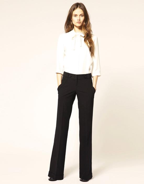 классические брюки с рубашкой