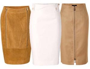 кожаные юбки 2013-2014