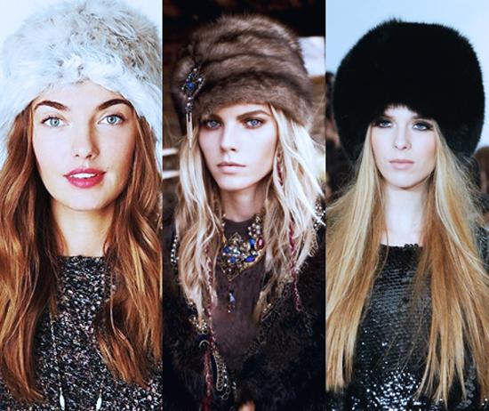 меховые шапки 2013-2014