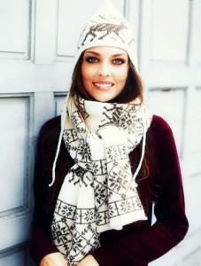 шарф с норвежским узором