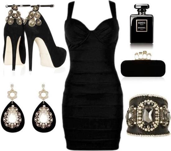 вечерний вариант черного платья