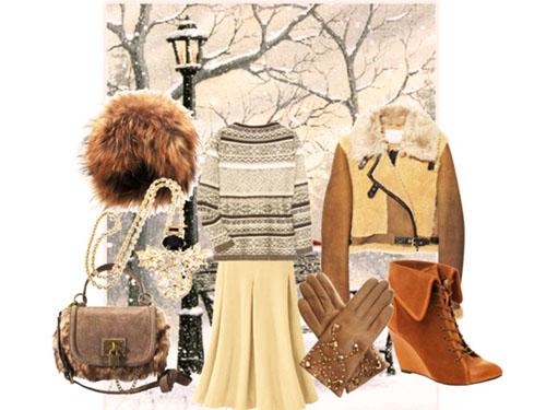 модный образ зима 2014