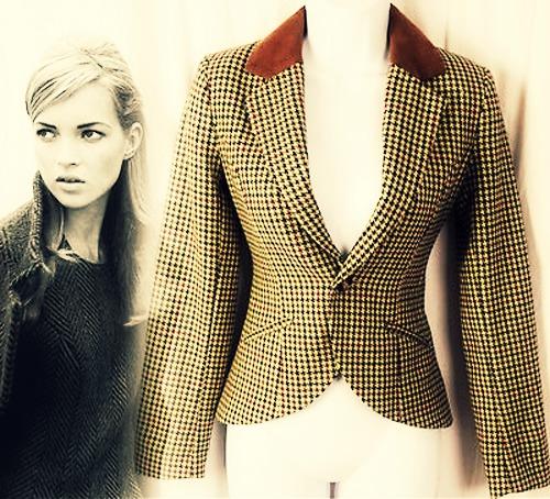 модный твидовый пиджак