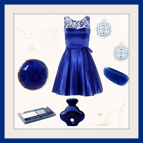 синий цвет для Нового года 2014