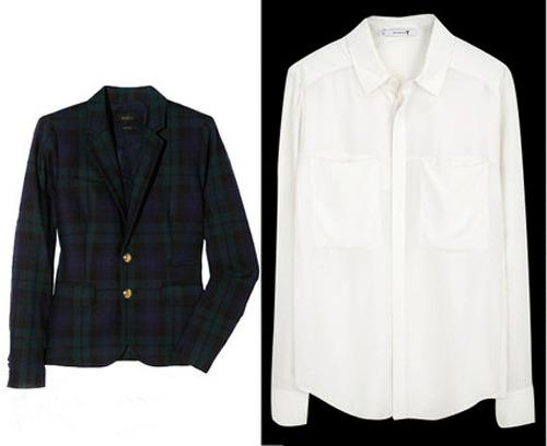 твидовый пиджак с белой рубашкой