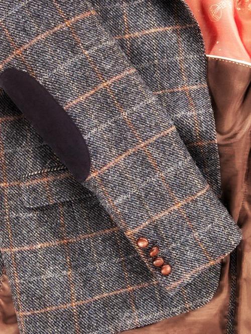 твидовый пиджак с налокотниками