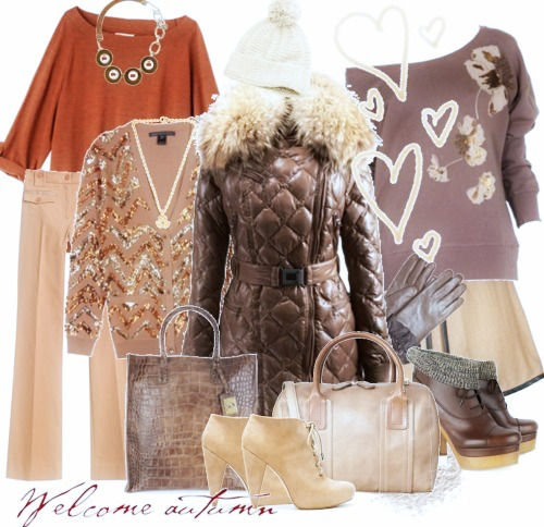зимний лук мода
