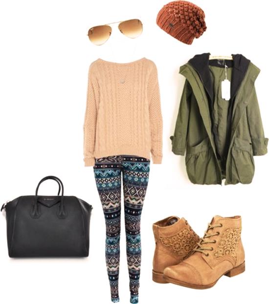 леггинсы со свитером