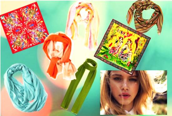 модная ткань платка 2014