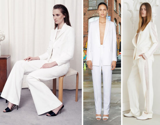 белый брючный костюм 2014