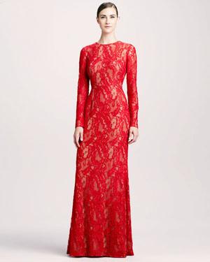вечернее кружевное платье 2014