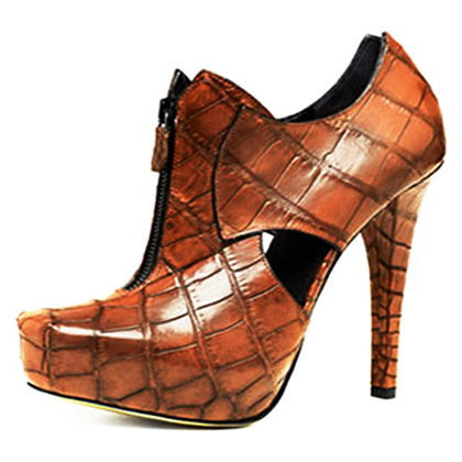 ботильоны кожаные на каблуке