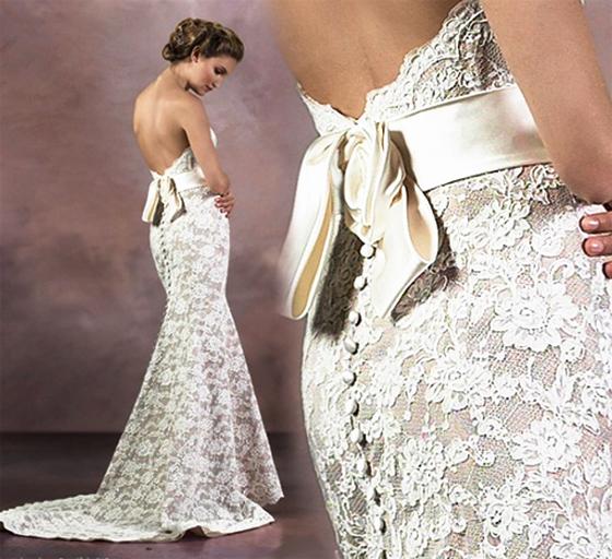 кружевное свадебное платье 2014