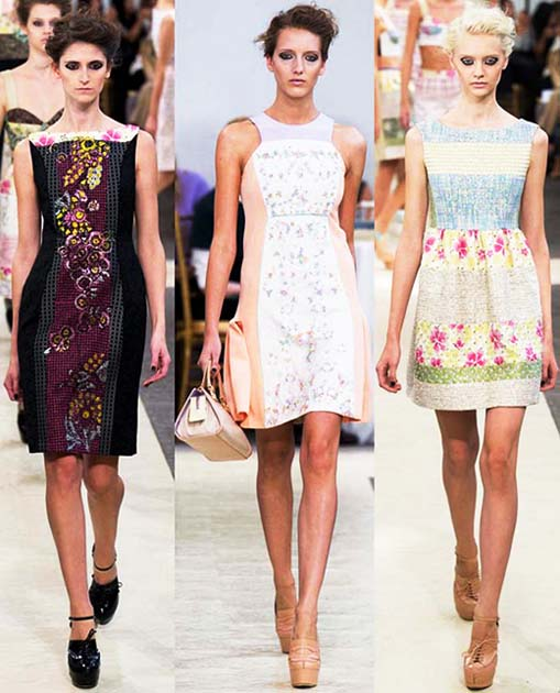 Лето 2014 vogue стильные модные платья 2014