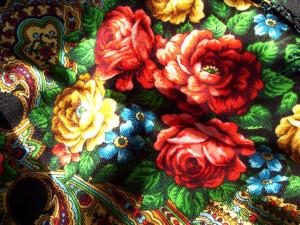 павлопосадский платок цветы