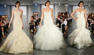 свадебные платья русалка 2014