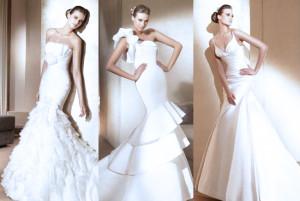 свадебное платье рыбка 2014