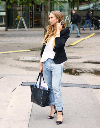 джинсы бойфренды с босоножками