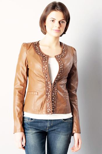 кожаные куртки весна 2014 с камнями