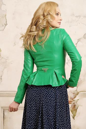 кожаные куртки весна 2014 ярко-зеленые