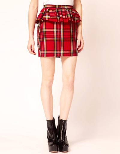 модная шотландская юбка 2014