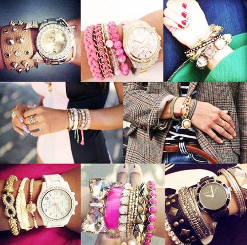 модные аксессуары весна-лето 2014 многослойность браслетов