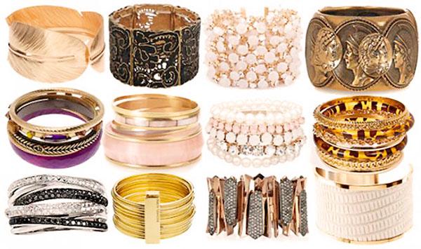 модные аксессуары весна-лето 2014 широкие браслеты