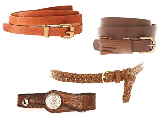 модные аксессуары весна-лето 2014 коричневые ремни