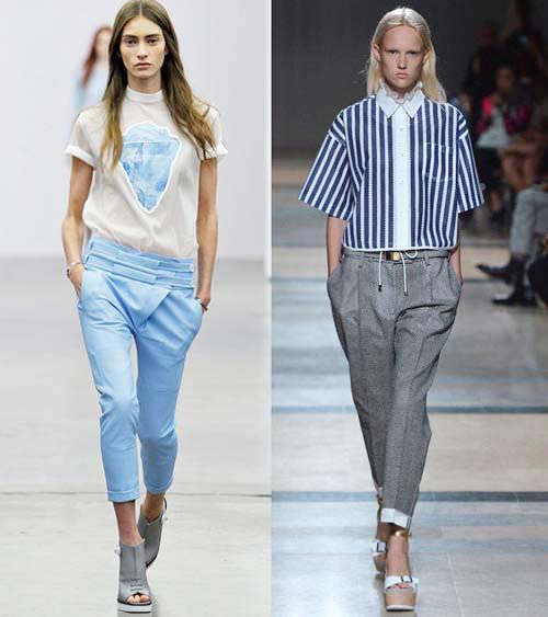 модные бриджи и капри 2014